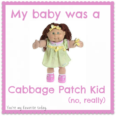 cabbage patch kid button