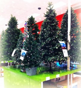 first of all why the hell arent all of the trees decorated - Christmas Tree Target
