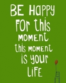 Be Happy For This Moment.