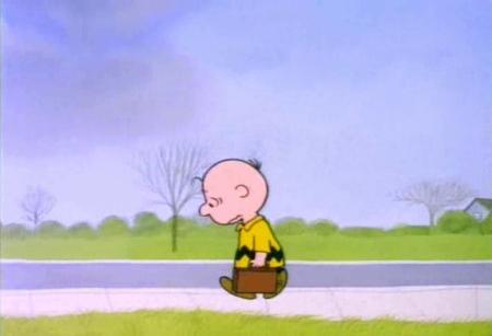 charlie brown sad walk