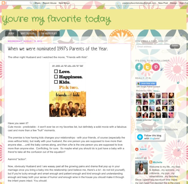 Here's a screenshot of the original YMFT blog page, which lasted for about six months. Anyone remember?