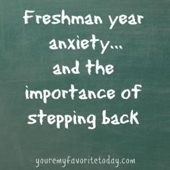freshman year anxiety