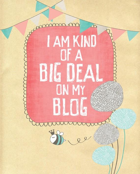big deal on blog