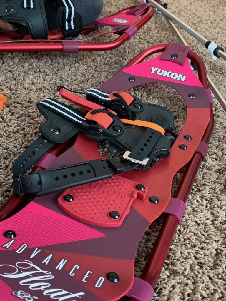 I love the bright colors of these Yukon snowshoes!