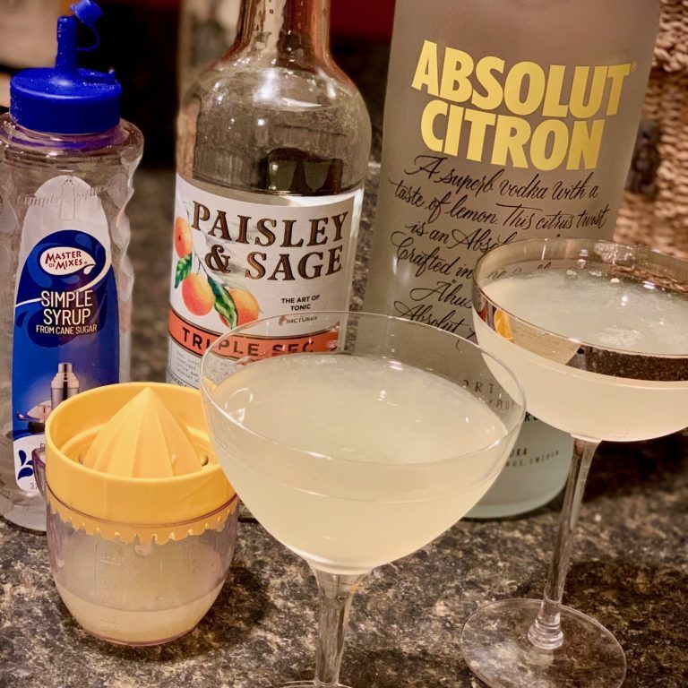 It's easy to make a Lemon Drop martini